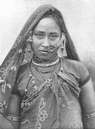 INDIA. A Bhil Woman; Western India 1900 old antique vintage print picture